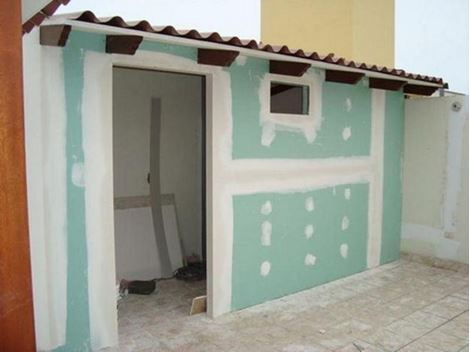 Drywall com placas verdes no ABC